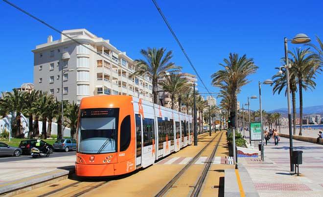 Трамвай из Аликанте в Бенидорм