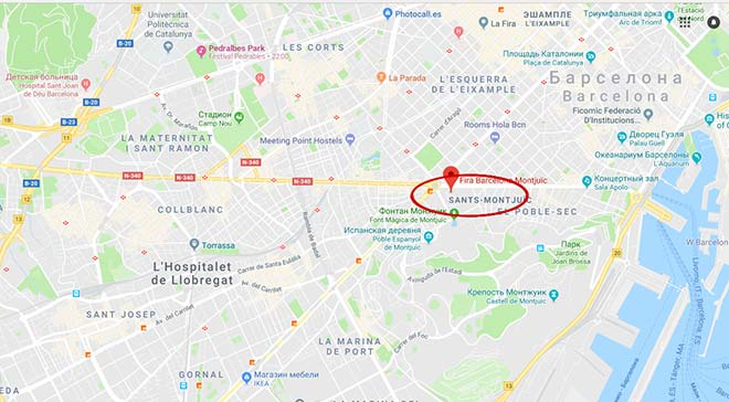 Автосалон - выставочный комплекс Fira de Barcelona