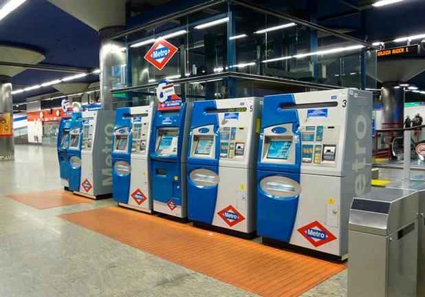 Терминалы в мадридском метро