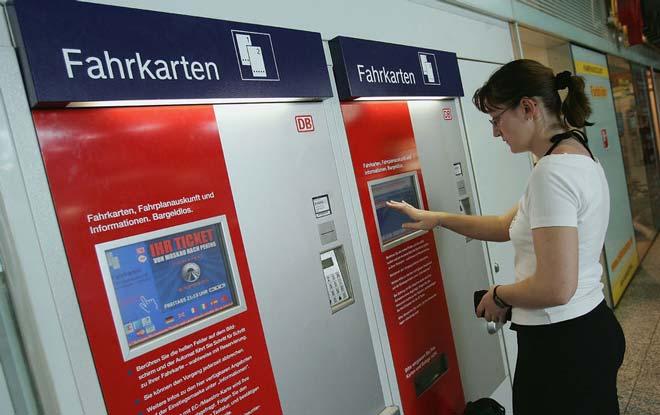Билетный автомат в Германии