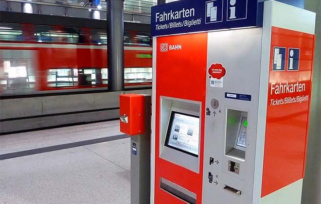 Билетный терминал в Германии