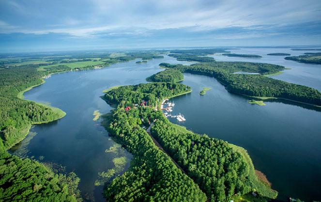 Главные озера Мазурии