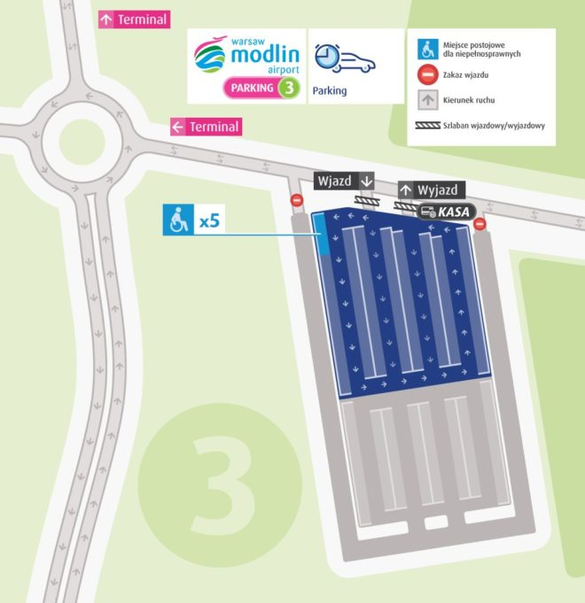 Паркинг 3 Аэропорта Модлин