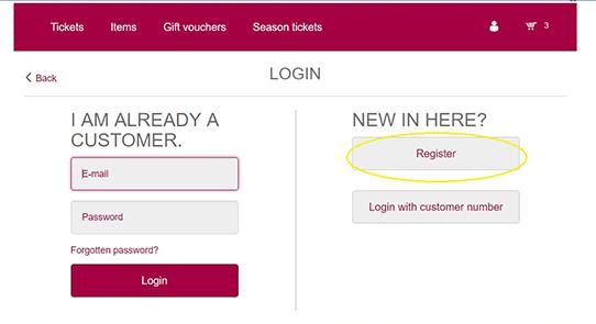 Регистрация в личном кабинете сайта Баварской оперы