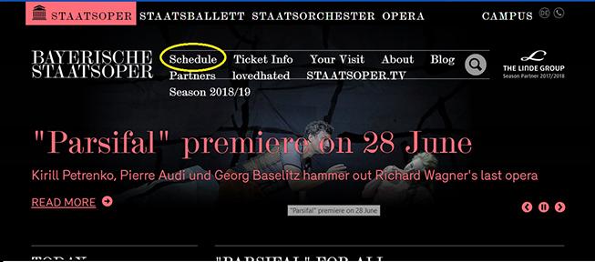Расписание Баварской оперы