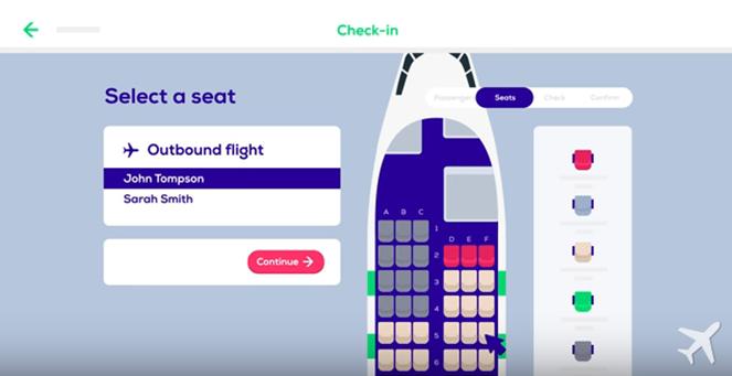Выбор места для 1 пассажира