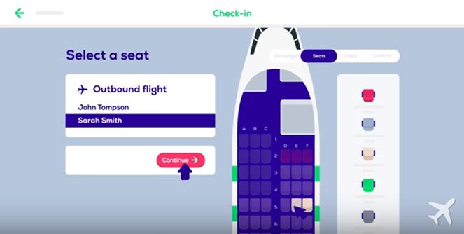 Выбор места для 2 пассажиров