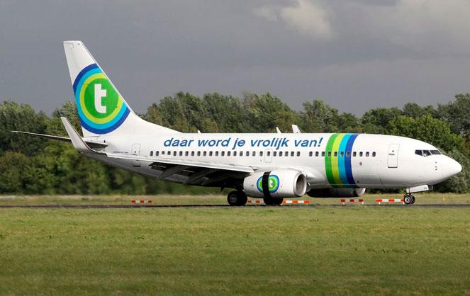 Самолет авиакомпании Transavia