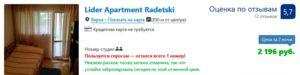 Стоимость аренды жилья в Варне
