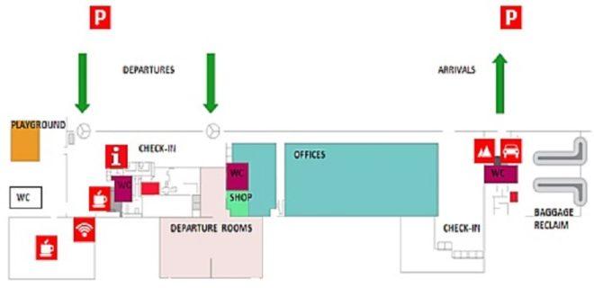 Терминалы аэропорта схема