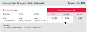 Стоимость авиабилетов Осло-Берлин