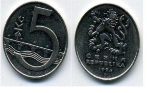 Чешские пять крон