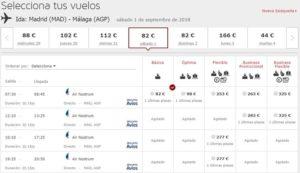 Расписание самолетов Air Nostrum из Мадрида в Малагу