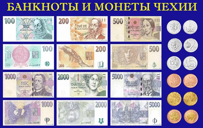 Банкноты Чехии