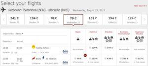 Расписание самолетов Барселона-Марсель