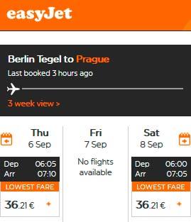 Расписание самолетов из Берлина в Прагу