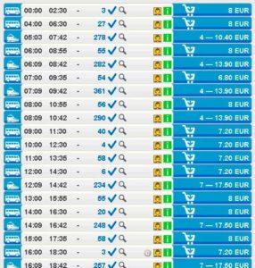 Расписание Regiojet из Брно в Прагу