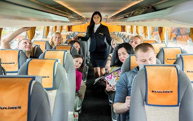 В автобусе компании Эколайнс