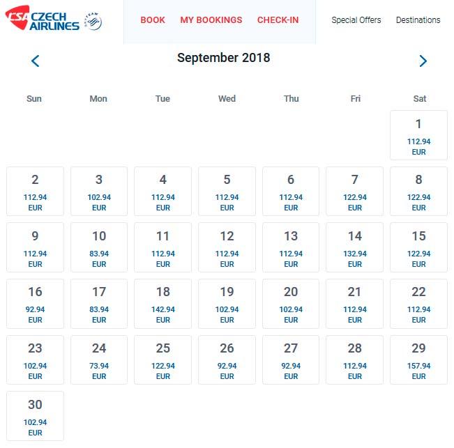Стоимость перелета из Франкфурта в Прагу