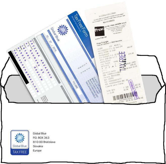 Отправка документов на возврат налога с покупки