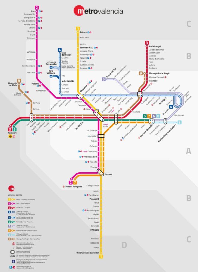 Схема метро Валенси