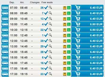 Расписание автобусов из Праги в Карловы Вары