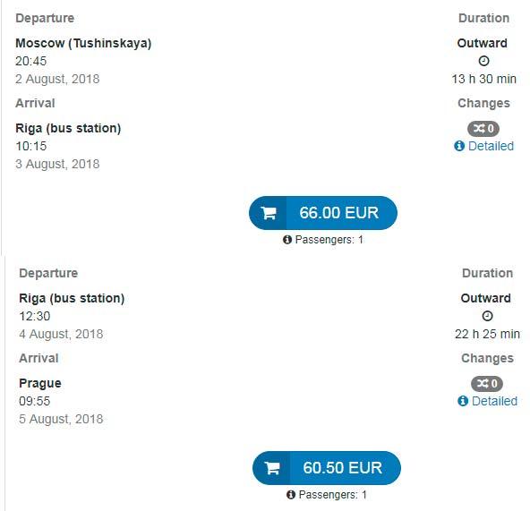 Расписание автобусов из Москвы до Карловых Вар