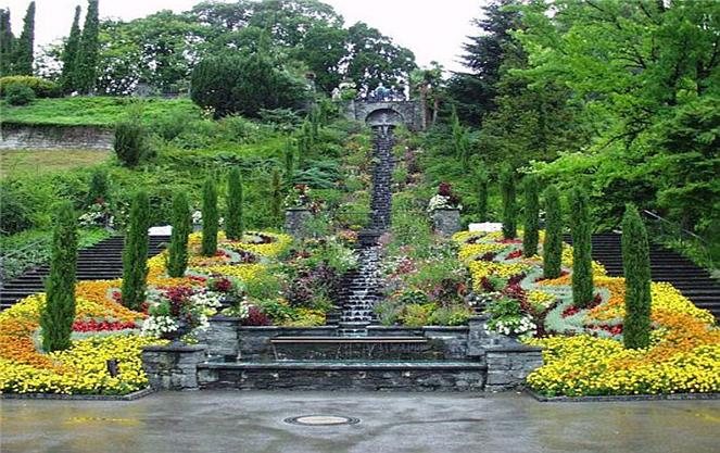 Лестница на острове цветов майнау