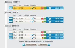 Расписание автобусов Прага-Мангейм