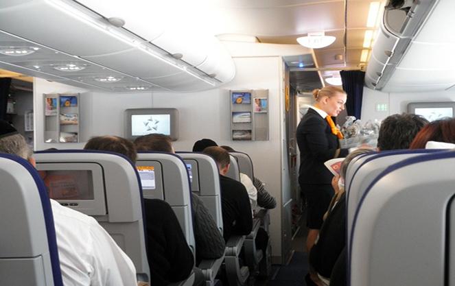 На борту самолета Люфтганзы