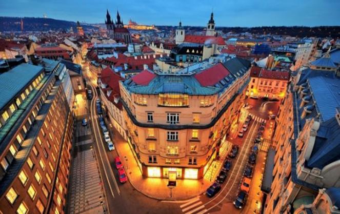 Вид на Чехию с высоты птичьего полета