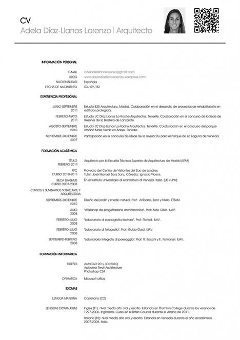 Образец резюме на испанском языке