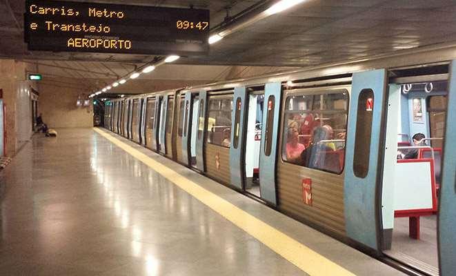 Метро до центра Лиссабона