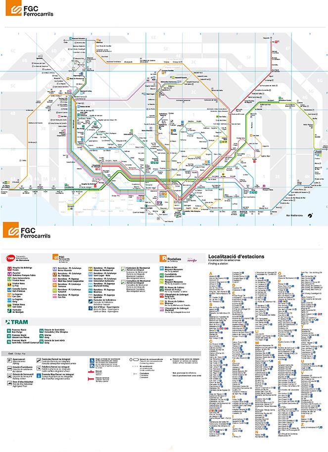 Железнодорожные линии в Барселоне