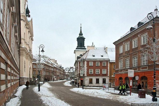 Зима  в Варшаве