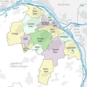 Административное деление Майнца