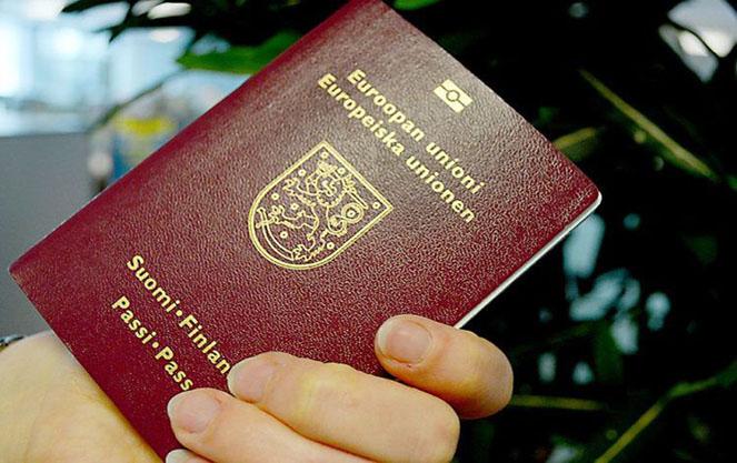 Образец финского паспорта