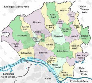 Административное деление Висбадена
