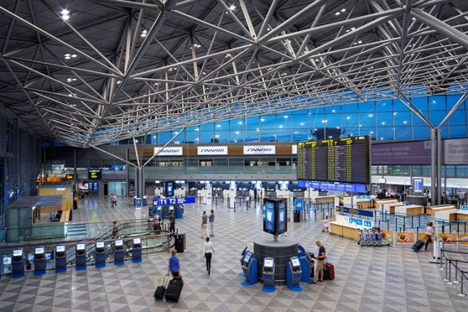 Внутри аэропорта Хельсинки
