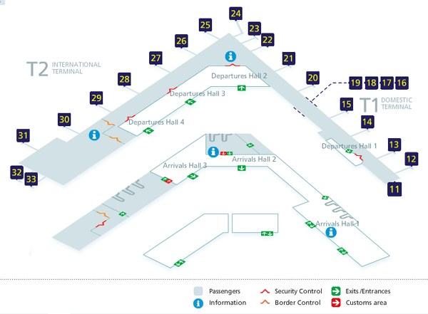 Схема аэропорта Вантаа в Хельсинки