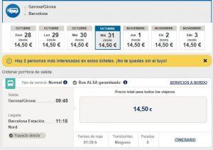 Расписание автобусов из Жироны в Барселону