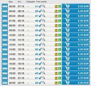 Расписание автобусов Карловых Вар в Прагу