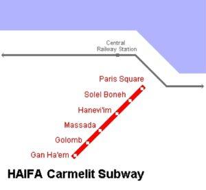 Схема метро в Тель-Авиве