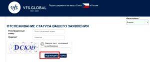 Проверка готовности визы в Чехию онлайн 2