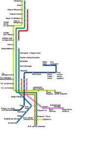 схема поездов в Израиле