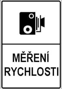Знак стационарной камеры в Чехии