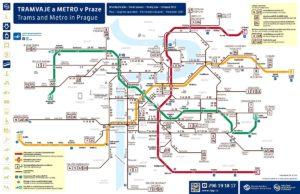карта общественного транспорта Праги