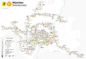 схема автобусного движения Мюнхена