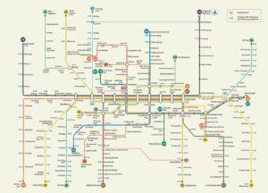 схема общественного транспорта в Мюнхене