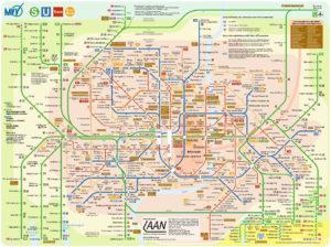 карта общественного транспорта Мюнхена